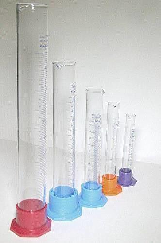 Цилиндры лабораторные (мерные: исполнение 3 - на полиэтиленовом основании)