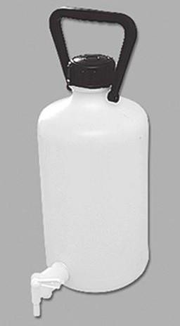 Бутыли c краном, завинчивающейся крышкой и ручкой, ПЭ ВД (код ОКП 229390)