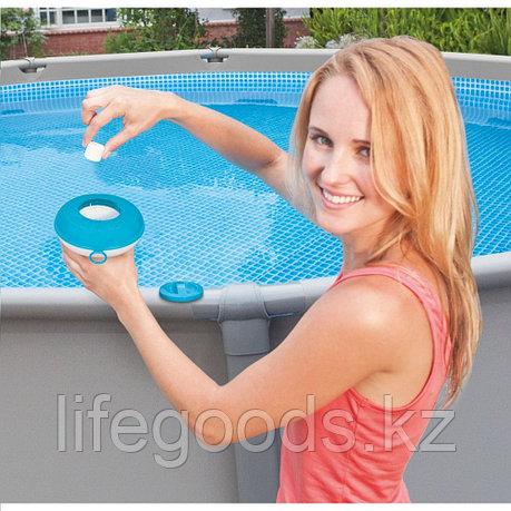 Плавающий поплавок-дозатор маленький для 20г таблеток, Intex 29040, фото 2