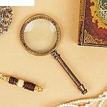 "Сувенир лупа рукоять из металла ""Пиратская"" 3,2х11х23 см , фото 3"