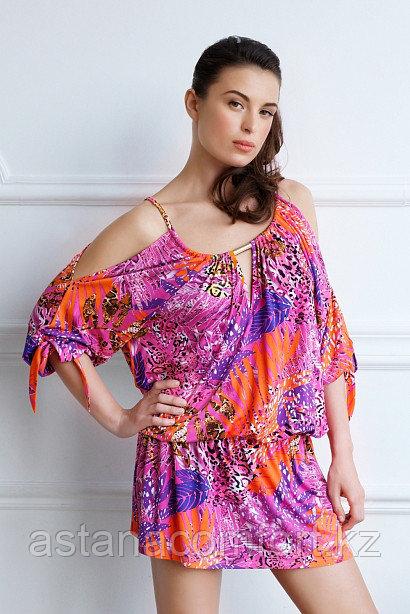 Яркое мини платье из вискозы Laete
