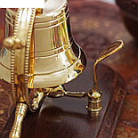 "Колокол латунь на подставке ""В штурвале"" 15х11х17,5 см , фото 2"
