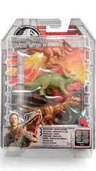Мир Юрского Периода - Набор из 3 мини-фигурок динозавров FPN84