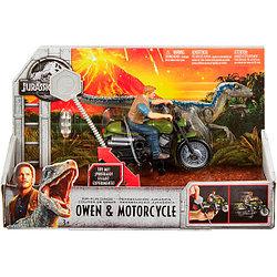 Мир Юрского Периода - Заводные преследователи, Оуэн на мотоцикле (движение)