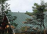 Гибкая (битумная) черепица RUFLEX Зелёный базелик, SBS (СБС) модифицированный битум, Гарантия 35 лет!, фото 4