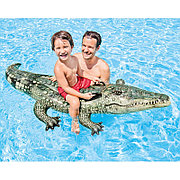"""Детский надувной плотик """"Настоящий аллигатор"""" 170х86 см, Intex 57551"""