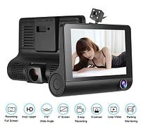 Видеорегистратор с тремя камерами VIDEO CAR DVR L-L319 [FullHD 1080P; дисплей 4 ; угол обзора 170 градусов,