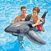 """Детский надувной плотик """"Настоящая акула"""" 173х107 см, Intex 57525"""