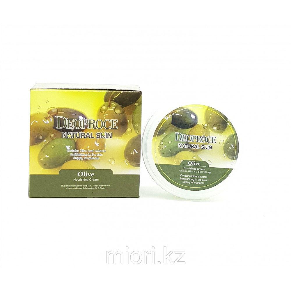Deoproce Natural Skin Olive Cream – Крем с Экстрактом Оливок для Питания Кожи