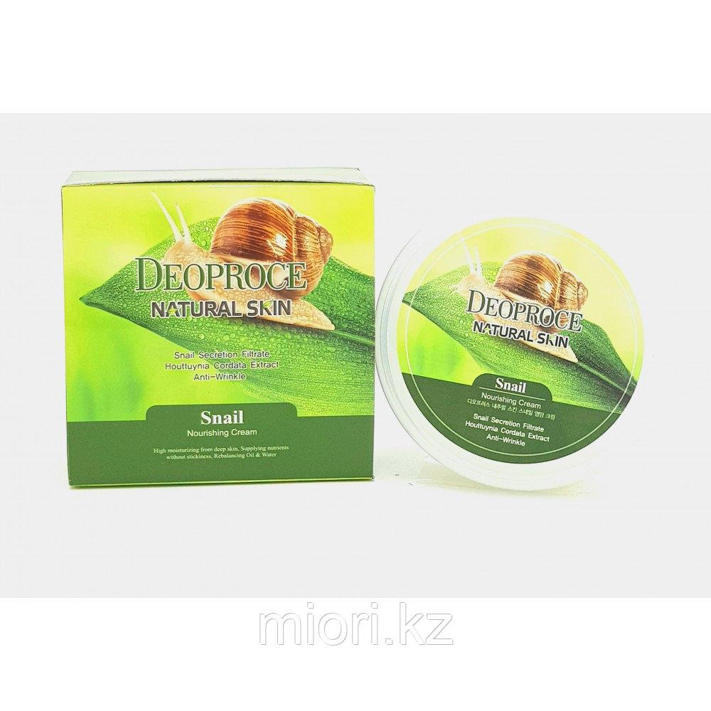 Deoproce Natural Skin Snail Nourishing Cream 100g - Питательно-омолаживающий крем с экстрактом слизи улитки 10