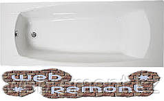 Акриловая ОБРЕЗНАЯ ванна Прагматика 155/173*75 см. 1 Марка. Россия