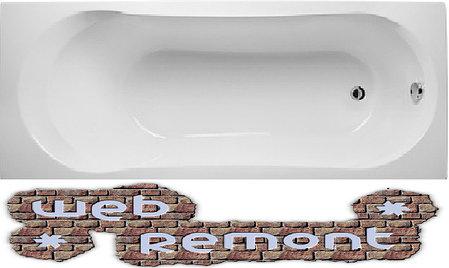 Акриловая  прямоугольная ванна Либра 170x70 см. 1 Марка. Россия (Ванна + каркас +ножки), фото 2