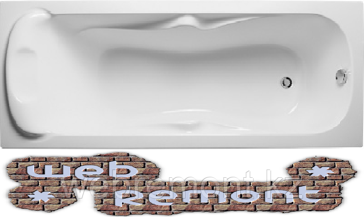 Акриловая прямоугольная  ванна Дипса 170х75 см. 1 Марка. Россия (Ванна + каркас +ножки)