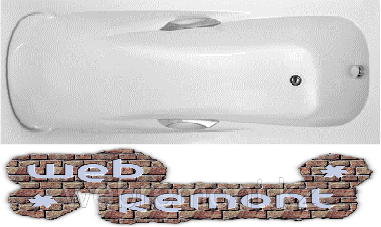 Акриловая  прямоугольная ванна Калипсо 170*75 см. 1 Марка. Россия (Ванна + каркас +ножки)