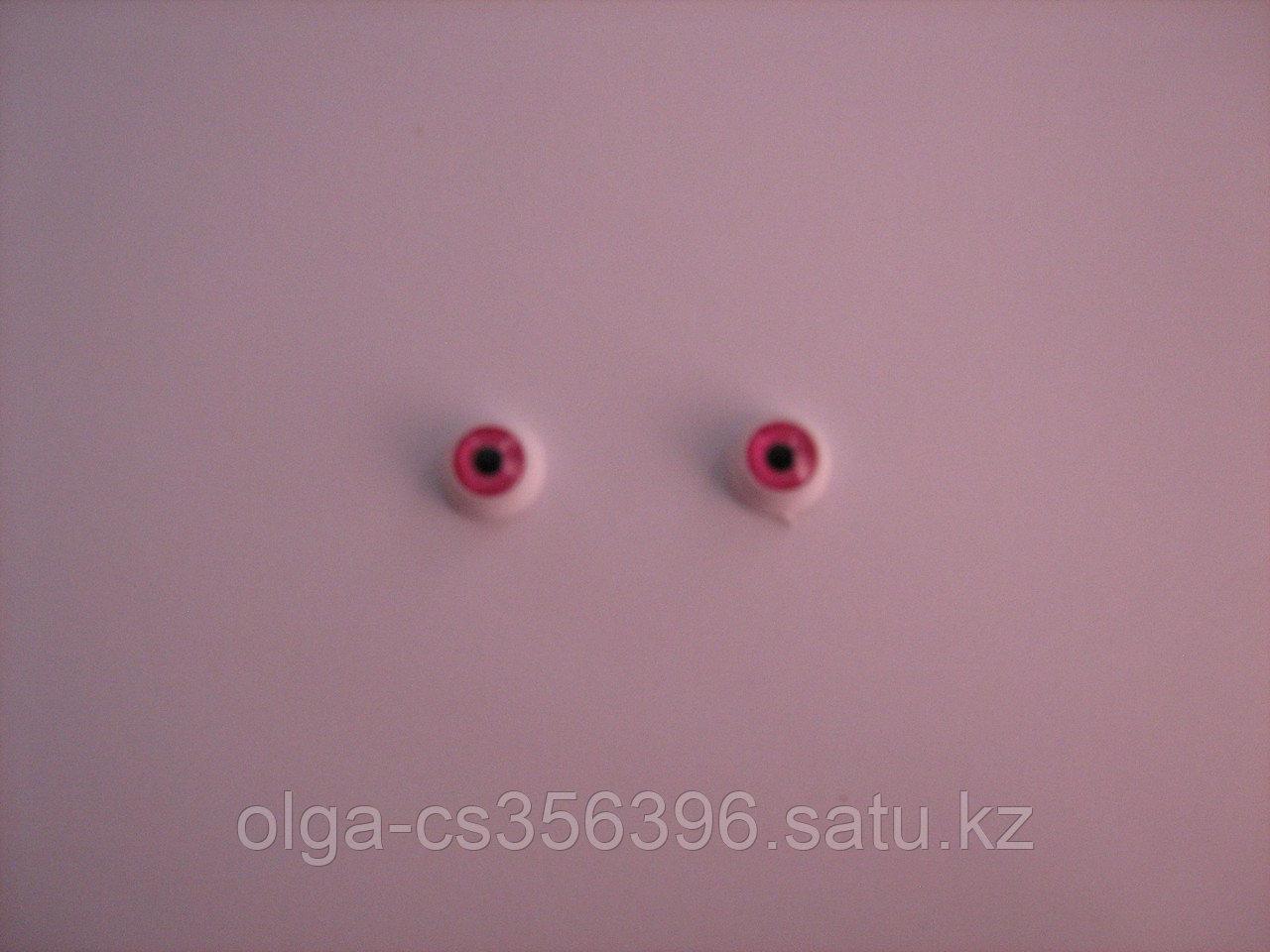 Глазки для игрушек. Розовые. 12 мм.  Creativ 2193