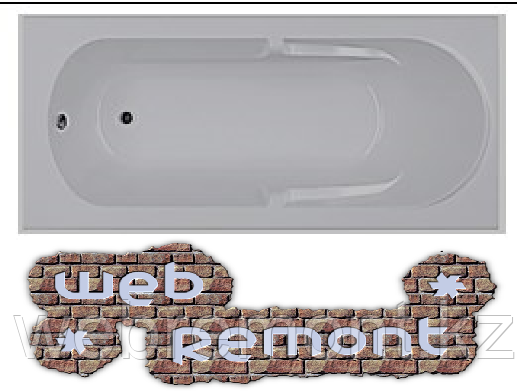 Акриловая прямоугольная  ванна Даная 180x80 см. 1 Марка. Россия (Ванна + каркас +ножки) (Акрил ПММА)