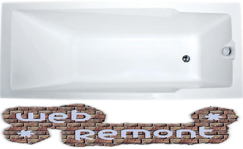 Акриловая  прямоугольная ванна Рагуза 180x80 см. 1 Марка. Россия (Ванна + каркас +ножки)