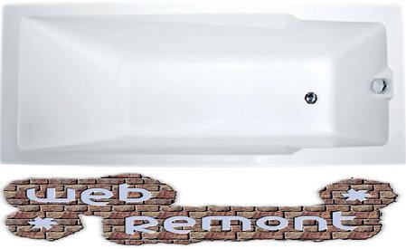Акриловая  прямоугольная ванна Рагуза 180x80 см. 1 Марка. Россия (Ванна + каркас +ножки), фото 2