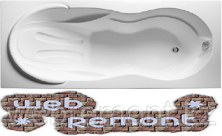 Акриловая  прямоугольная ванна Таормина 180*90 см. 1 Марка. Россия (Ванна + каркас +ножки), фото 2