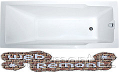 Акриловая  прямоугольная ванна Рагуза 190*90 см. 1 Марка. Россия (Ванна + каркас +ножки)