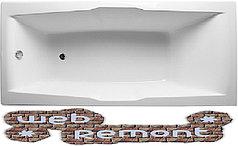 Акриловая  прямоугольная ванна Корсика 190*100 см. 1 Марка. Россия (Ванна + каркас +ножки)