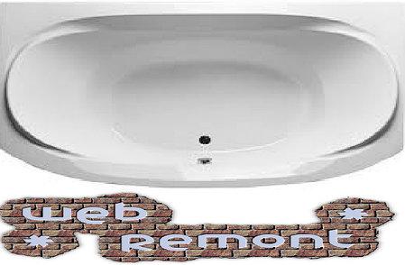 Акриловая прямоугольная  ванна Сиракуза 190*120 см. 1 Марка. Россия (Ванна + каркас +ножки), фото 2