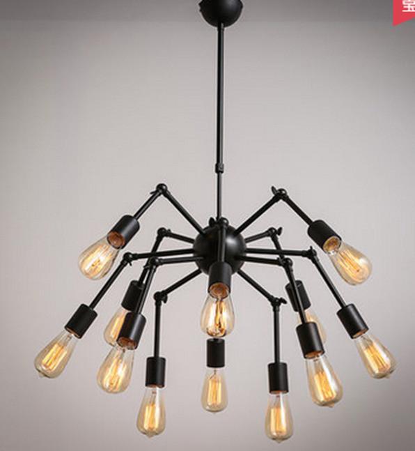 Люстра паук на 12 ламп с направляемыми лампами