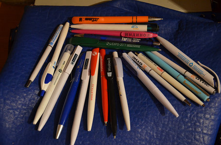 Ручки для нанесения логотипа