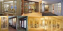 Витражи и межкомнатные двери на заказ с патинированием из массива и шпона в Астане и Алматы