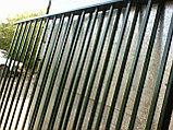 Забор металлический из вертикальных прутьев, фото 4
