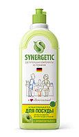 SYNERGETIC для мытья посуды, детских игрушек Яблоко (флакон 1л)
