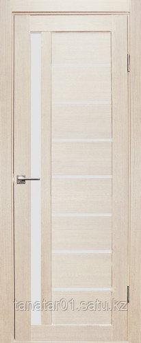 Дверь Вертикаль, цвет лиственница, матовое стекло