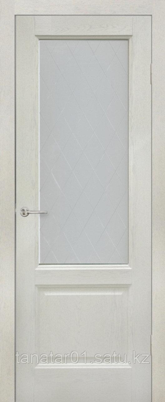 Дверь остекленная Лира, цвет слоновая кость, матовое стекло