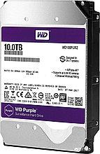 """Western Digital WD100PURZ Жесткий диск для видеонаблюдения HDD 10Tb Purple SATA 6Gb/s 256Mb 3,5"""" 5400rpm"""