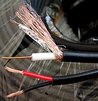 RG59+питание  комбинированный кабель коаксиальный  75 Ом+2x0,5 мм²