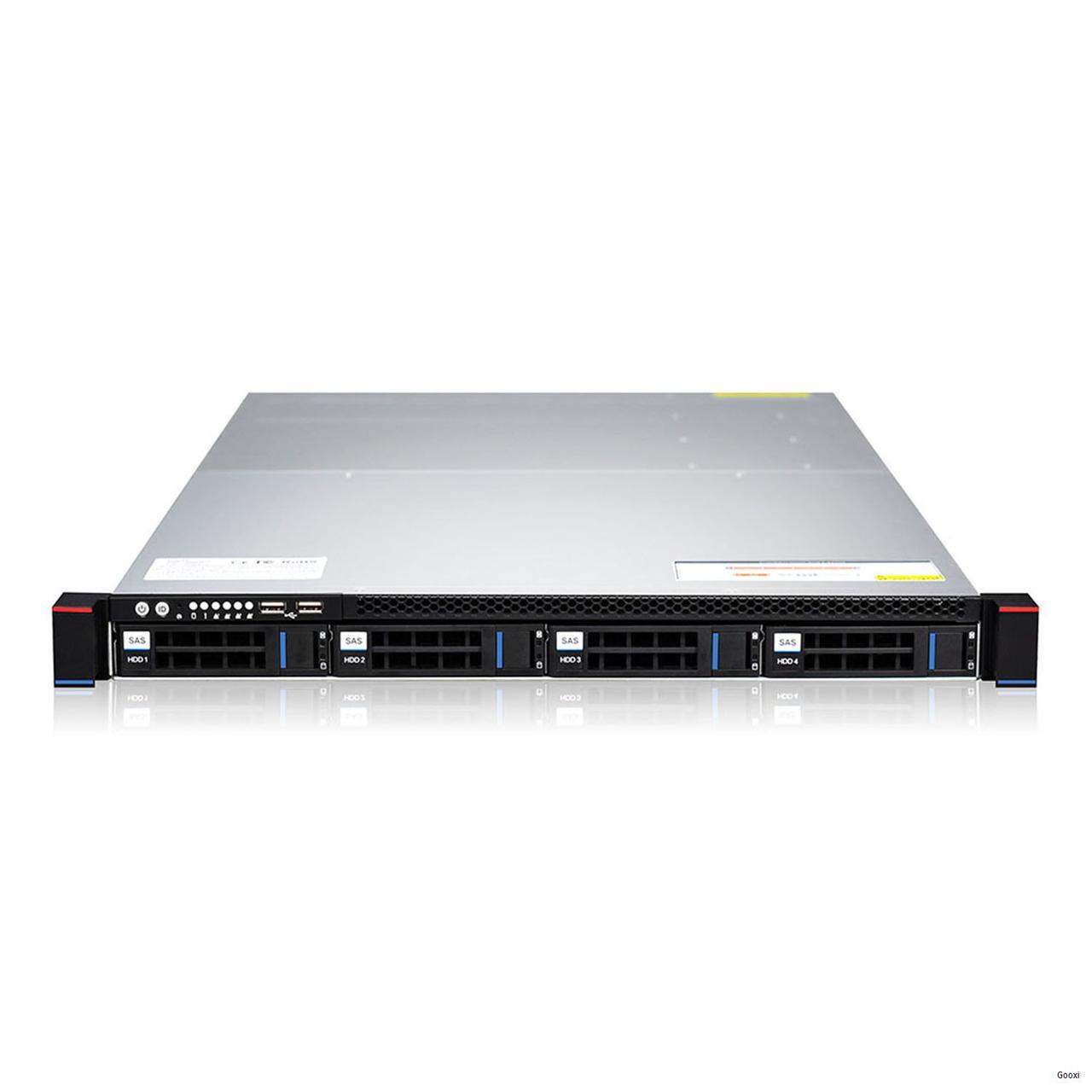 Сервер Gooxi 1U\Xeon E3-1220v6\8GB RAM\2x1TB SATA\4GLAN\2x550W
