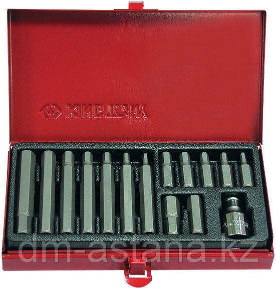Набор вставок (бит) 10 мм, HEX, 4-12 мм, 15 предметов KING TONY 1015MQ
