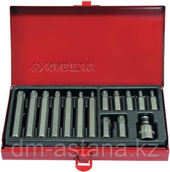 Набор вставок (бит) 10 мм, TORX, Т20-Т55, 15 предметов KING TONY 1015PQ
