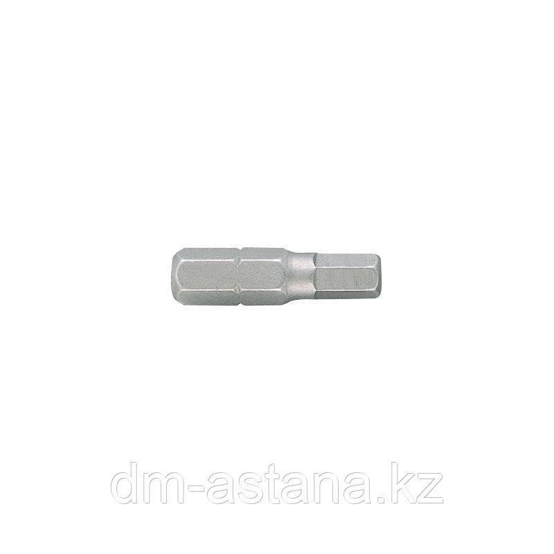 """Вставка (бита) торцевая 1/4"""", HEX, 4 мм, L = 25 мм KING TONY 102504H"""