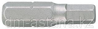 """Вставка (бита) торцевая 1/4"""", HEX, 7 мм, L = 25 мм KING TONY 102507H"""