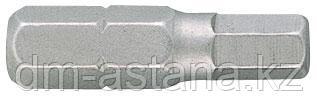 """Вставка (бита) торцевая 1/4"""", HEX, 1.5 мм, L = 25 мм KING TONY 102515H"""