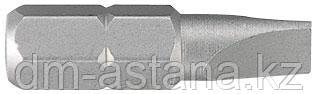 "Вставка (бита) торцевая 1/4"", Slotted, 8х1.6 мм, L = 25 мм KING TONY 102508S2"
