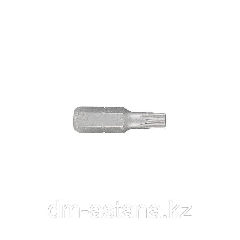 """Вставка (бита) торцевая 1/4"""", TORX, T20, L = 25 мм KING TONY 102520T"""