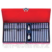 Набор вставок (бит) 10 мм, TORX, SPLINE, HEX, 44 предмета KING TONY 1044CQ