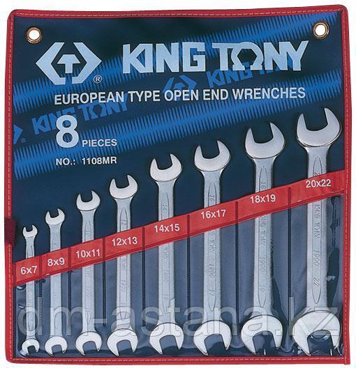Набор рожковых ключей, 6-22 мм, 8 предметов KING TONY 1108MR