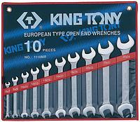 Набор рожковых ключей, 6-28 мм, 10 предметов KING TONY 1110MR
