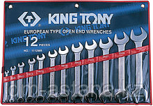 Набор рожковых ключей, 6-32 мм, 12 предметов KING TONY 1112MR