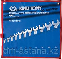 Набор комбинированных ключей, 8-24 мм, чехол из теторона, 11 предметов KING TONY 1211MRN