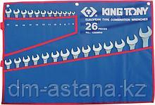 Набор комбинированных ключей, 6-32 мм чехол из теторона, 26 предметов KING TONY 1226MRN
