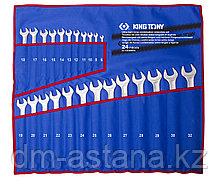 Набор комбинированных удлиненных ключей, 6-32 мм, чехол из теторона, 24 предмета KING TONY 12B4MRN